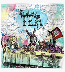 Alice in Wonderland - Tea Time Poster