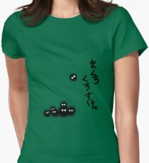 Totoro Soot Sprites  Womens Fitted T-Shirt