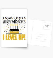 Postales No tengo cumpleaños. ¡Subo de nivel!