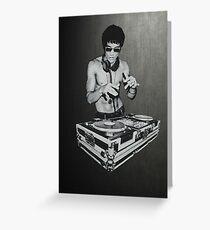 DJ Bruce Lee Greeting Card