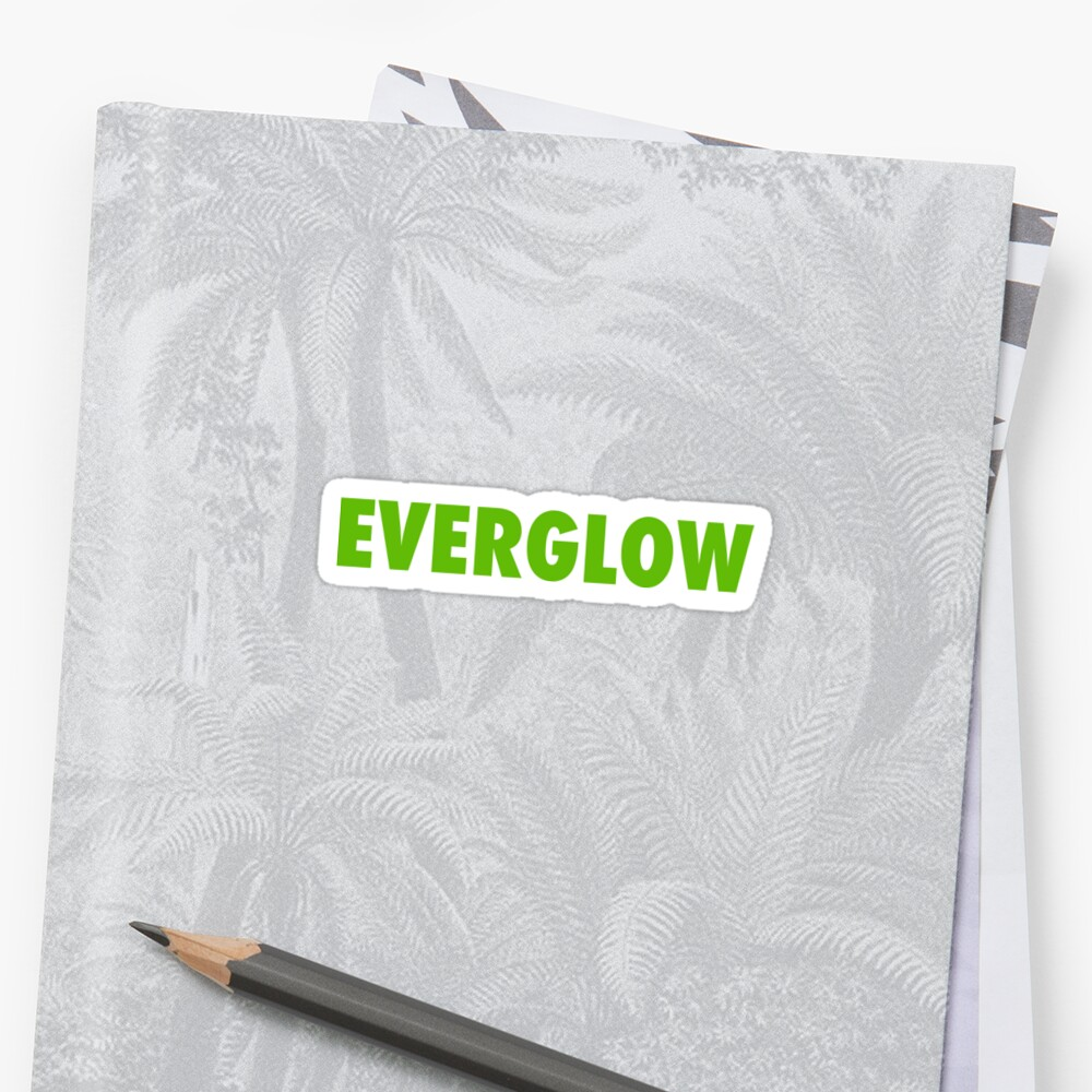 Quot Everglow Quot Sticker By Egcorley Redbubble