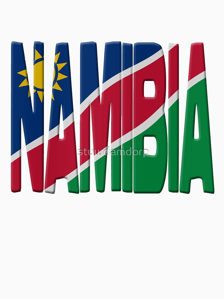Namibia flag by stuwdamdorp