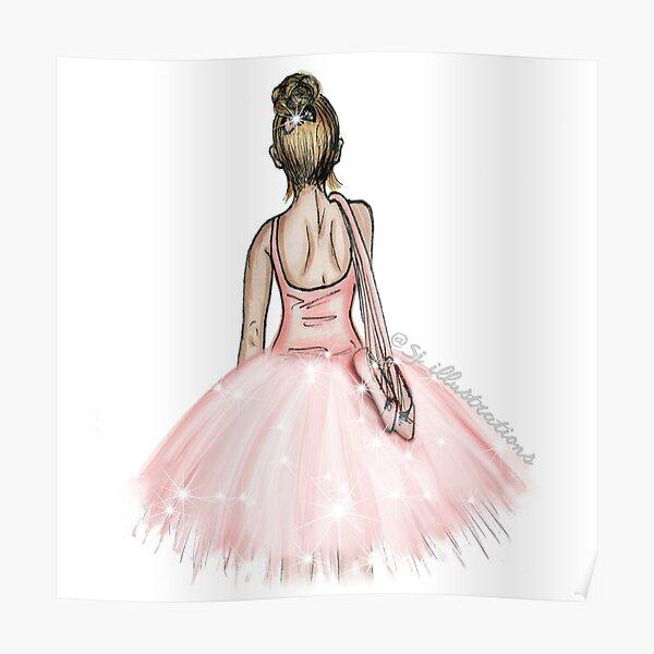 Ballerina Sparkle Poster