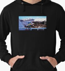 Alaska Skiing Shirt, Downhill Skis, Gift for Skier, Girdwood, Mt. Alyeska, Gift for Alaskan, Skiing Art, Skis Art Lightweight Hoodie
