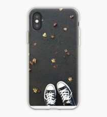 Converse and autumn leaves iPhone Case