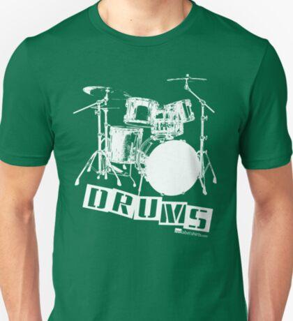 Label Me A Drum Set (White Lettering) T-Shirt