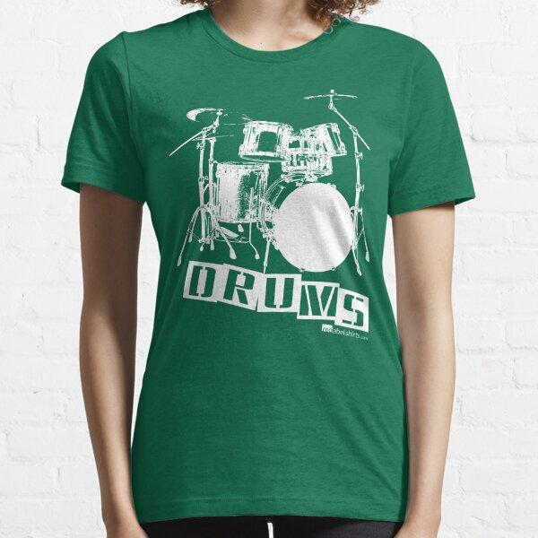 Label Me A Drum Set (White Lettering) Essential T-Shirt