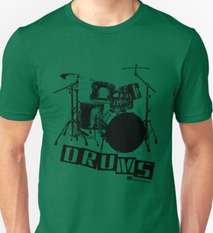 Label Me A Drum Set (Black Lettering) T-Shirt