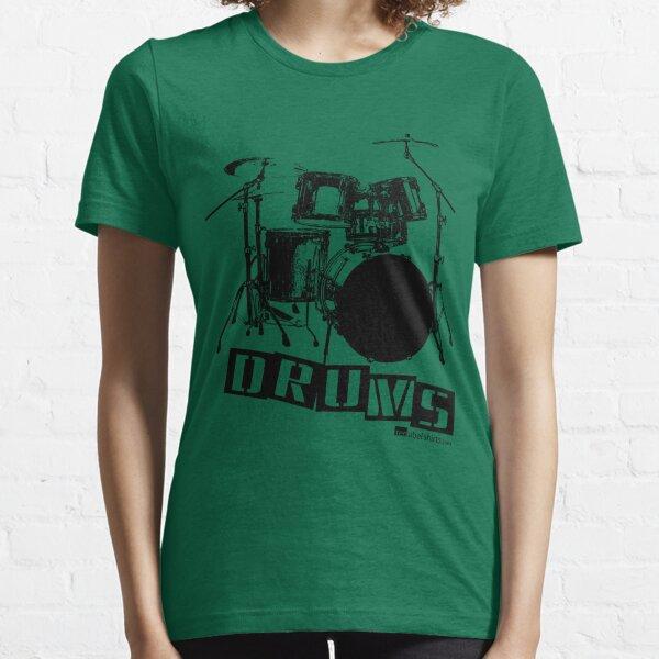 Label Me A Drum Set (Black Lettering) Essential T-Shirt