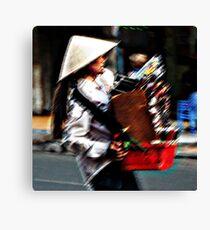 Ho Chi Minh City. Beautiful VCD Seller Canvas Print
