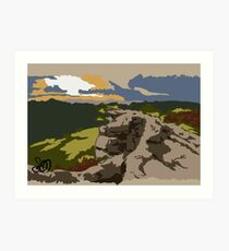 Peak District Sheffield  Art Print