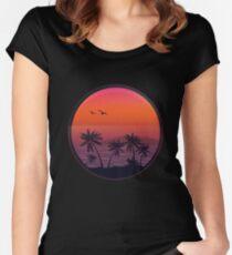 PANAMA BEACH SUNSET Women's Fitted Scoop T-Shirt