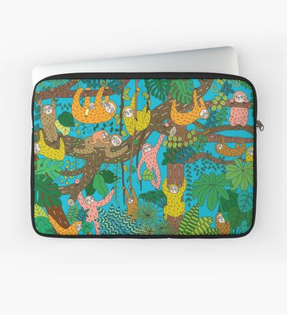 Happy Sloths Jungle  Housse de laptop