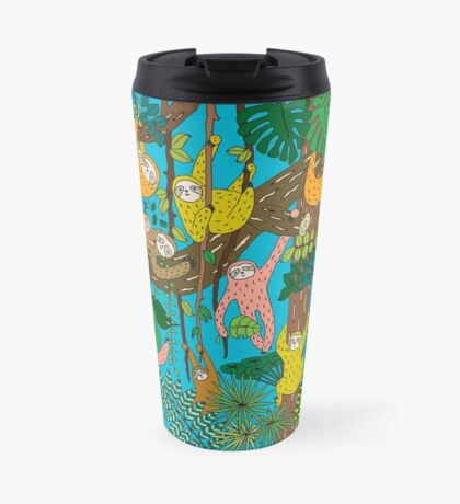 Happy Sloths Jungle  Mug de Voyage