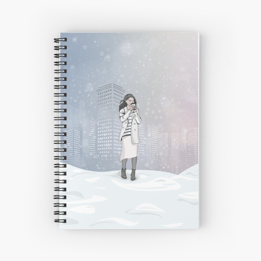 Winter Morning in a Big City Spiral Notebook