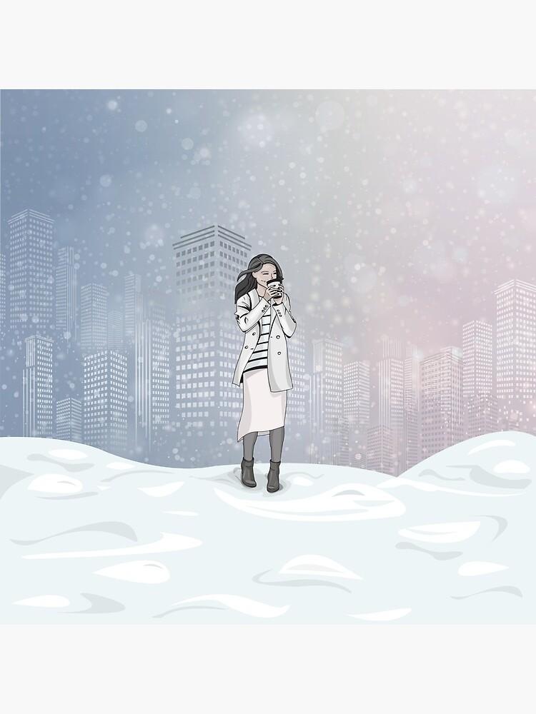 Winter Morning in a Big City by mirunasfia
