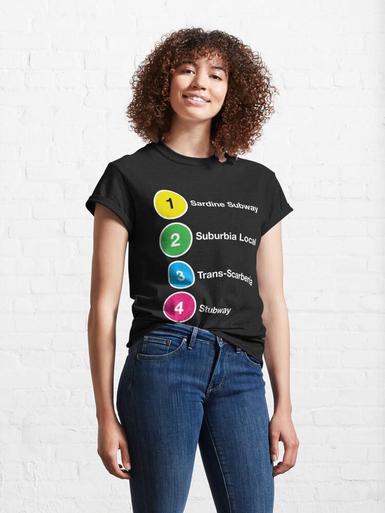 Alternate view of TTC Parody Line Names Classic T-Shirt