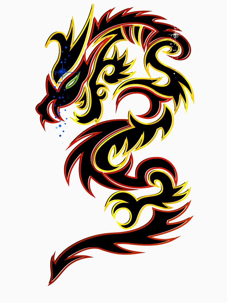 Black Fire Dragon Design by Keywebco