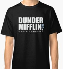Dunder Mifflin The Office Funny Typography Text Logo Shirts Classic T-Shirt
