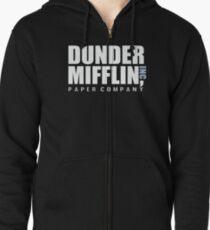 Dunder Mifflin Das Büro Lustige Typografie Text Logo Shirts Hoodie mit Reißverschluss