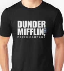 Dunder Mifflin The Office Funny Typography Text Logo Shirts Unisex T-Shirt