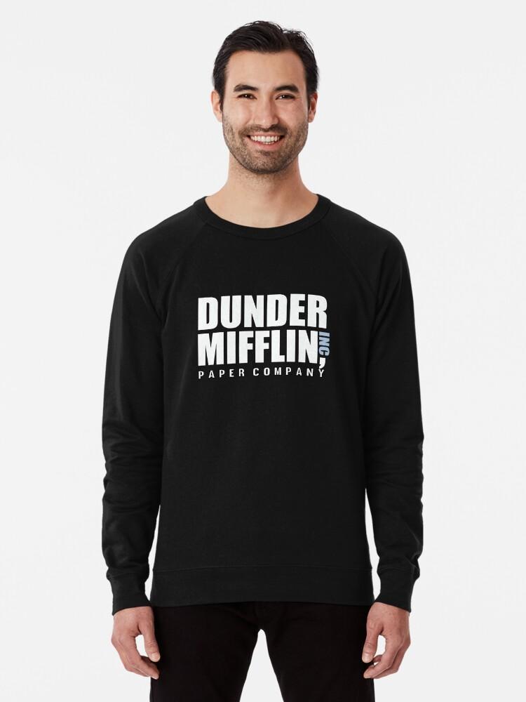 794eff1e Dunder Mifflin The Office Funny Typography Text Logo Shirts Lightweight  Sweatshirt