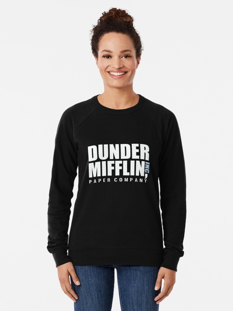 78fbe808 Alternate view of Dunder Mifflin The Office Funny Typography Text Logo  Shirts Lightweight Sweatshirt