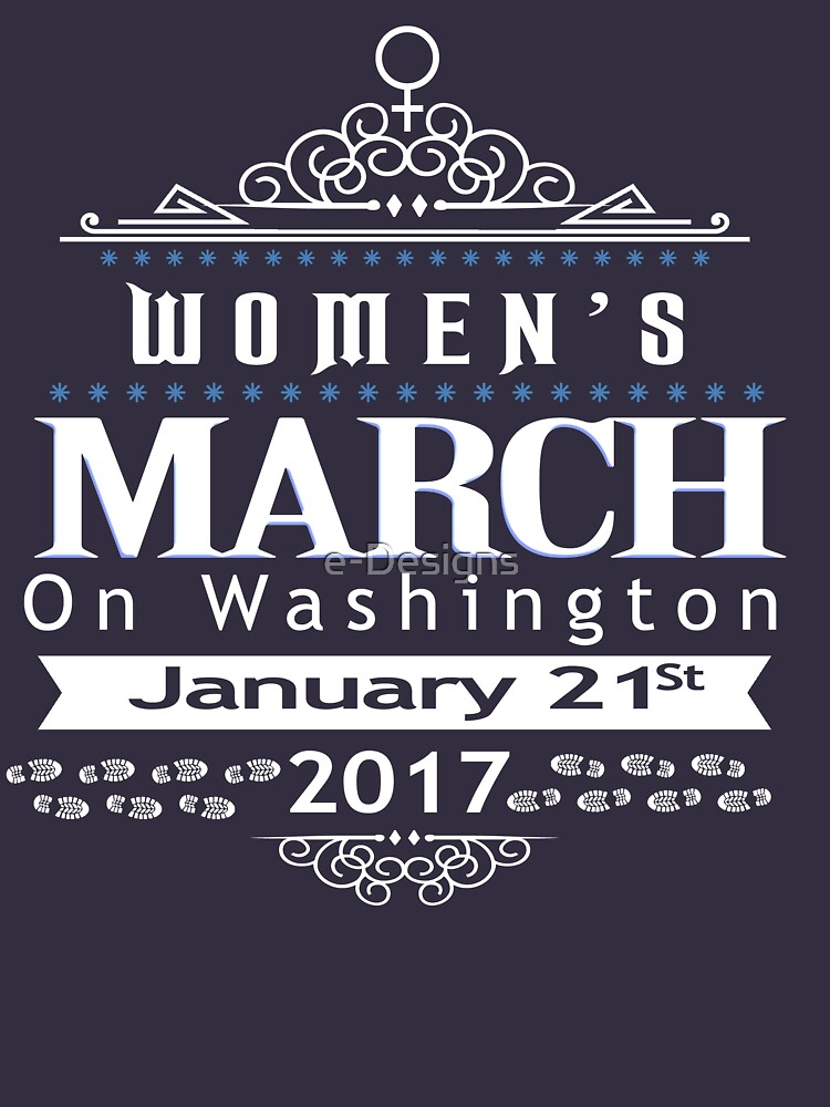 TShirtGifter presents: Million Women's March on Washington 2017 | Women's Fitted Scoop T-Shirt