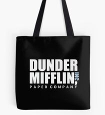 Dunder Mifflin The Office Funny Typography Text Logo Shirts Tote Bag