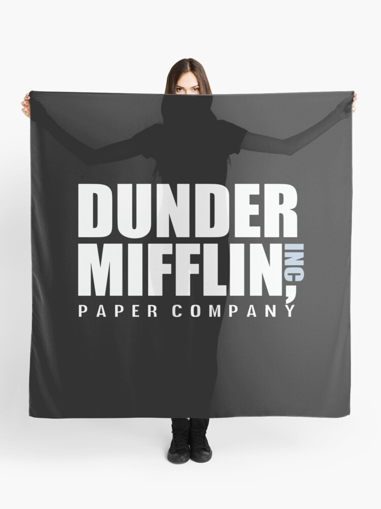aa0d1d7b Dunder Mifflin The Office Funny Typography Text Logo Shirts
