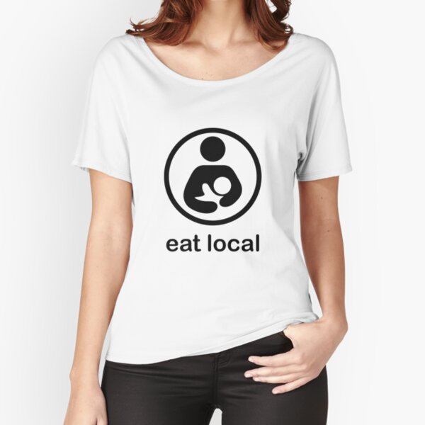 Stillen essen lokale Milchbabymutter neue Mutter neugeborene Mutterschaft Loose Fit T-Shirt
