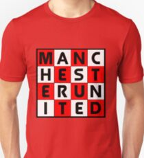 Manchester United red white and black T-Shirt