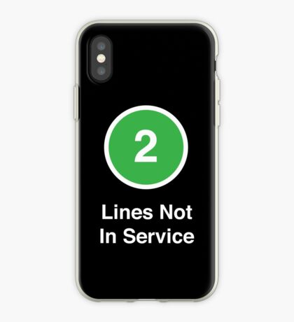 Lines Not In Service iPhone Case