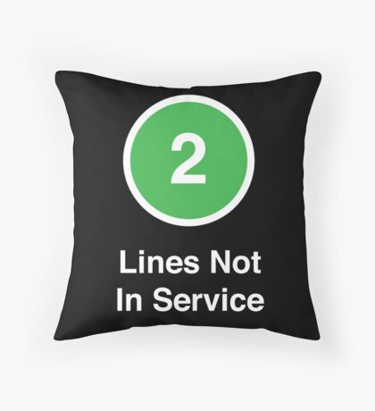 Lines Not In Service Throw Pillow