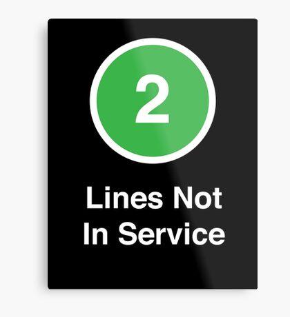 Lines Not In Service Metal Print