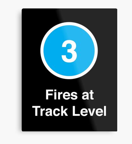 Fires at Track Level Metal Print