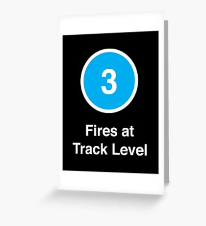 Fires at Track Level Greeting Card