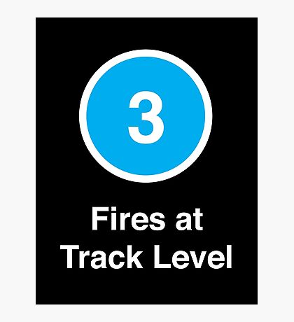 Fires at Track Level Photographic Print