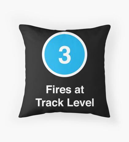 Fires at Track Level Throw Pillow