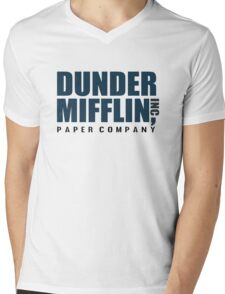 Dunder Mifflin - The Office - Logo  Mens V-Neck T-Shirt