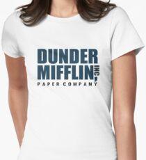 Dunder Mifflin - The Office - Logo  Womens Fitted T-Shirt