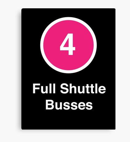Full Shuttle Busses Canvas Print