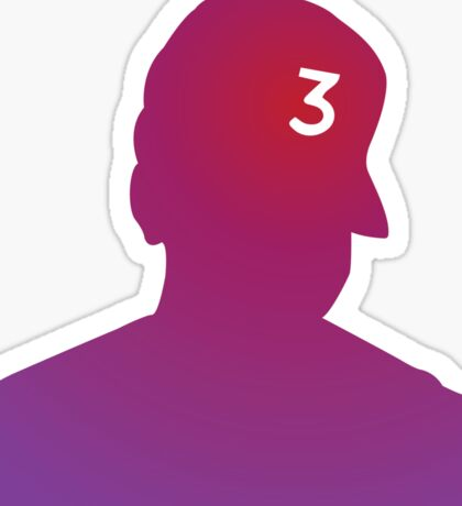 Chance the Rapper: Red/Purple Sticker
