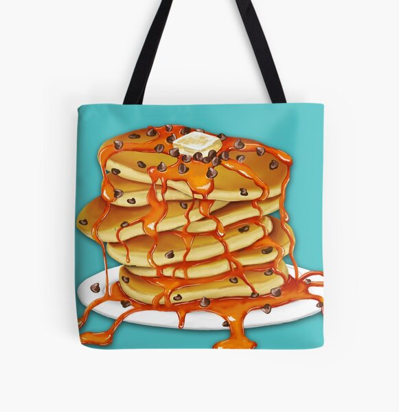 Ooey Gooey Chocolate Chip Pancakes All Over Print Tote Bag