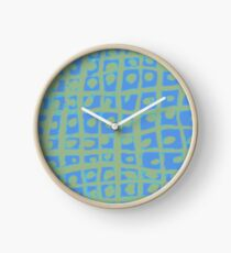 Modern Blue and Green Square Print iPhone 6 Case Clock