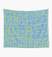 Modern Blue and Green Square Print iPhone 6 Case Wall Tapestry