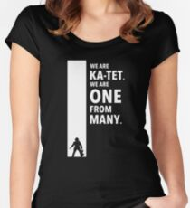 The Dark Tower Ka white Women's Fitted Scoop T-Shirt