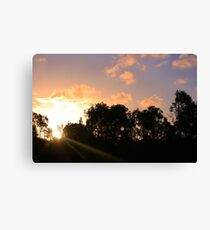 Sunbeams in the afternoon Canvas Print