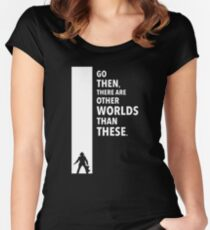 The Dark Tower Worlds white Women's Fitted Scoop T-Shirt