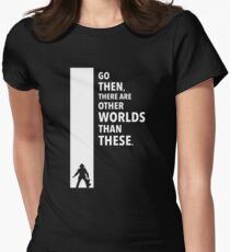 The Dark Tower Worlds white Womens Fitted T-Shirt